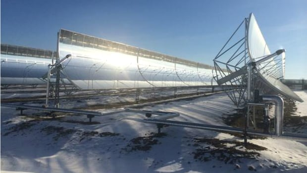 In a new report, Canadian scientists propose a blueprint for a transition to a low carbon economy. The field of curved steel panels is part of a $10 million solar thermal power plant in Medicine Hat, Alta.