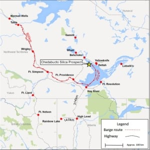 Husky Oil 2015 silica prospect map