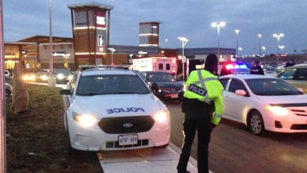 Ottawa police responded to a shooting at the Tanger Outlets mall at around 3:40 p.m. ET Boxing Day.