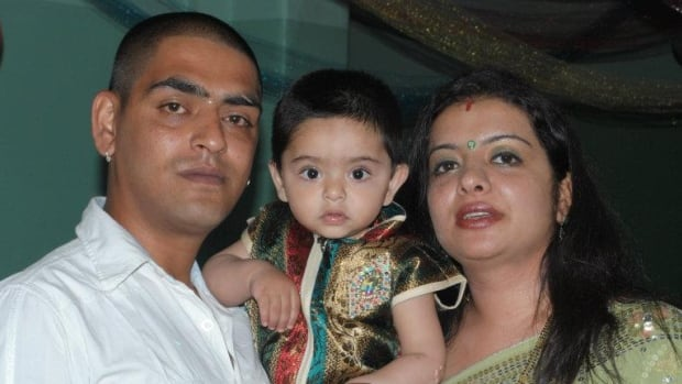 Aman Sood (left) and Bhavna Bajaj (right) say an error on their permanent residency application prevents their son Daksh from joining them to live in Canada.