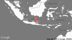 AirAsia flight 8501 map