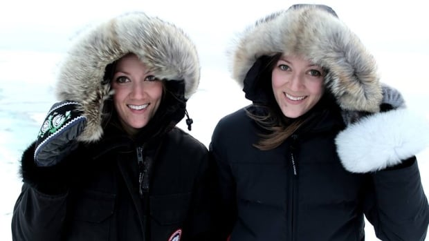 Sara Statham moved to Iqaluit two years ago. Her identical twin Dana joined her two months ago. 'It's been pretty entertaining. We could have started by getting different colour parkas,' says Sara. 'But no,' both say in unison, laughing.