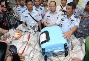 Indonesia Plane wreckage suitcase