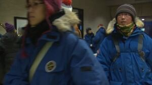 Chinese tourists in Yellowknife