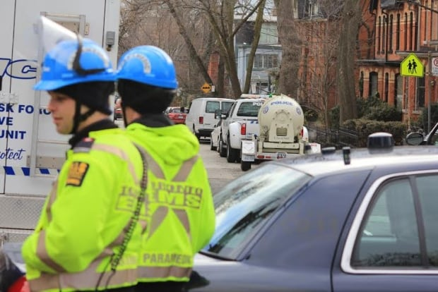 Police on the scene in Cabbagetown.