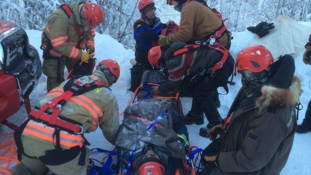 A Yukon fire crew at work. Some firefighters are calling for legislation like Alberta's that recognizes post-traumatic stress disorder as a hazard of the job. 'This is a very real occupational exposure,' says Ken Block, Edmonton's fire chief.