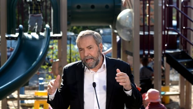 NDP leader Tom Mulcair chose an Ottawa playground last fall as the backdrop for his promise of a national child-care program that would cost no more than $15 a day per child.