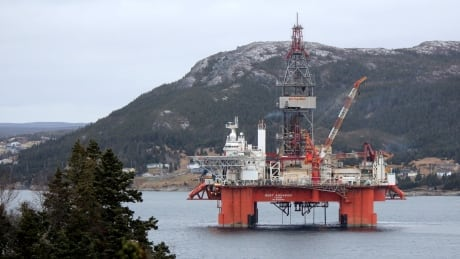 West Aquarius oil rig in Bay Bulls Harbour by Darlene Scott