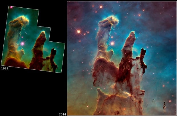 NASA Hubble Space Telescope Pillars of Creation