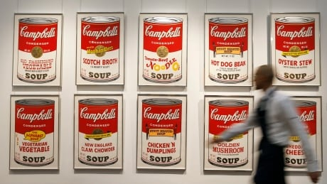 Andy warhol's Campbell's Soup screenprints at Sotheby's Auction House, 2013