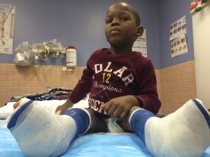 Haitian orphan Carl