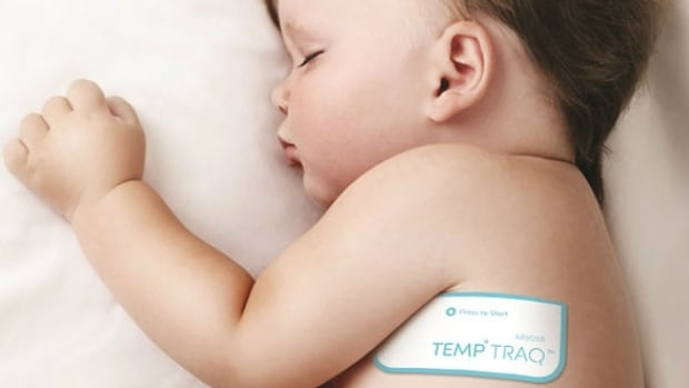 TempTraq made its debut at the Consumer Electronics Show in Las Vegas this past week. The wearable patch sends parents updates on their baby's temperature to their smartphone for 24 hours.