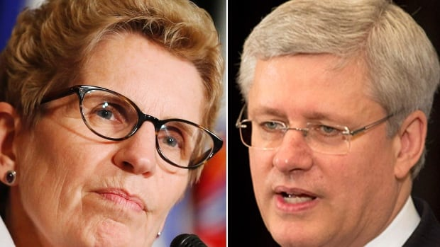 Premier Kathleen Wynne and Prime Minister Harper had their first meeting in more than a year on Monday, which Wynne later described as a 'productive discussion.'