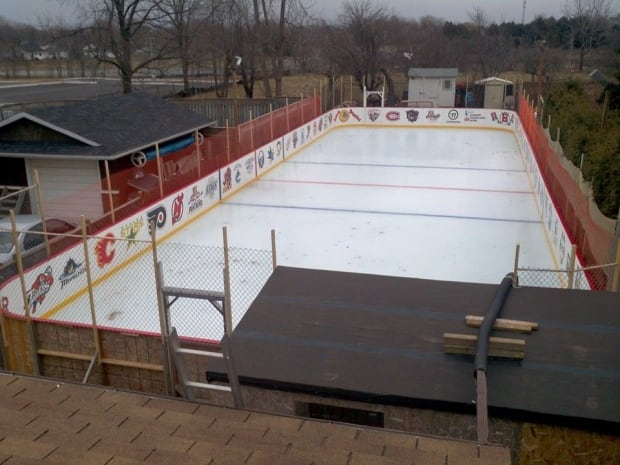 A View Of The Buntonu0027s Backyard Rink From The Second Floor.