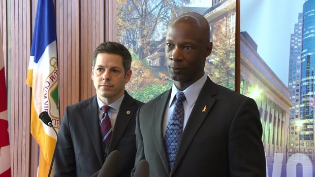 Mayor Brian Bowman and police Chief Devon Clunis held a press conference in January as an act of mutual support between the city and the Winnipeg Police Service.