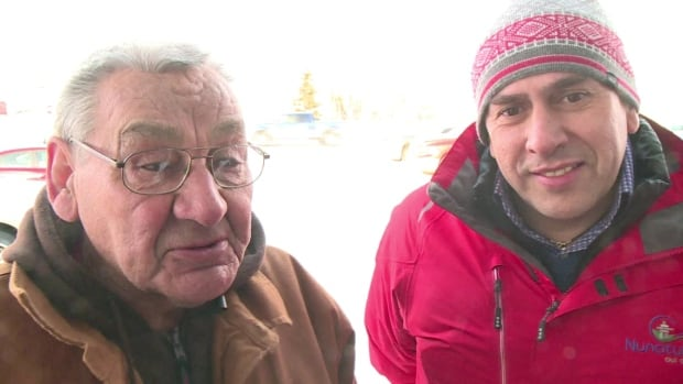 Elder Ken Mesher and NunatuKavut President Todd Russell were arrested in 2013 for demonstrating near the Muskrat Falls site.
