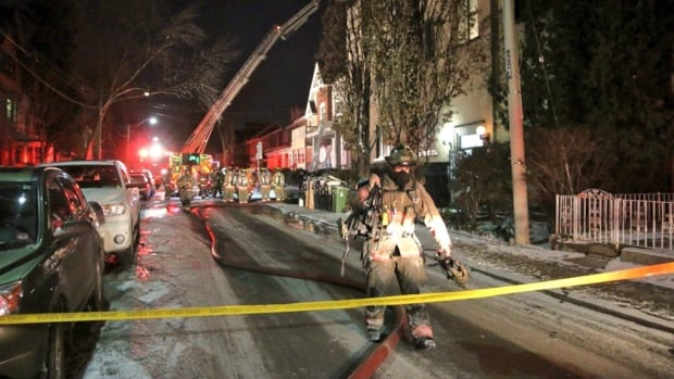 A house at 79 Markham St. was the site of an explosion just before midnight.