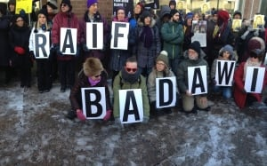 Raif Badawi protest in Montreal