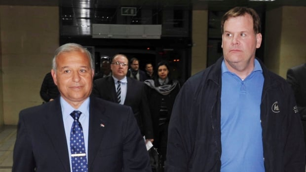 Foreign Minister John Baird, right, was met by the governor of Luxor, Major General Tarek Saad Eddin, when he arrived in Egypt on Wednesday. Baird is expected to bring up the case of jailed Canadian-Egyptian journalist Mohammed Fahmy when he meets with officials in Cairo Thursday.