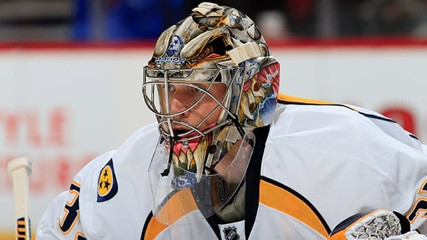 Nashville goalie Pekka Rinne leads the NHL with 29 wins and ranks second in the league with a 1.96 goals-against average and a .931 save percentage.
