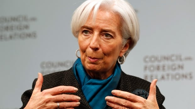 "International Monetary Fund (IMF) Managing Director Christine Lagarde speaks at a forum ""What's Next for the Global Economy: A Look Ahead at 2015"" at the Council on Foreign Relations in Washington January 15, 2015."