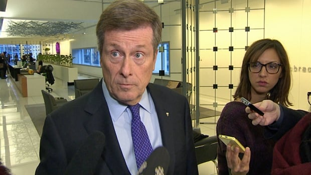 Toronto Mayor John Tory said no to the province's offer for a line of credit, with market interest rates and set against city property.