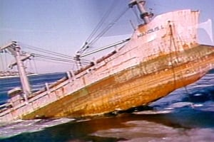 Manolis L sunken ship Notre Dame Bay file photo