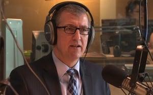 Paul Davis in CBC studio on election date MHA cuts
