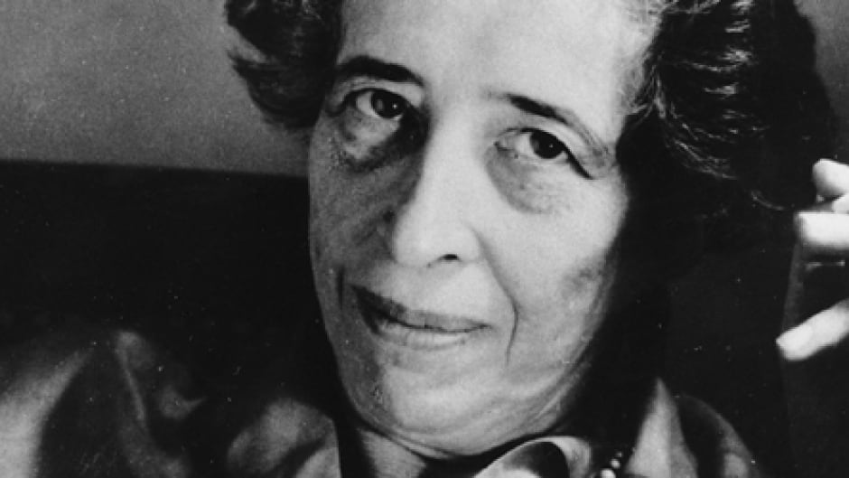 Hannah Arendt in 1969, (AP photo).