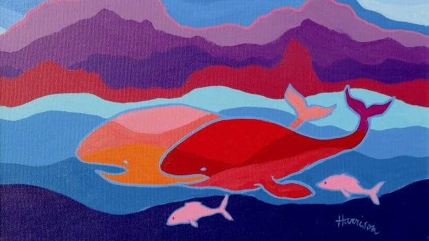 """Whales of Monterrey"" by Ted Harrison."