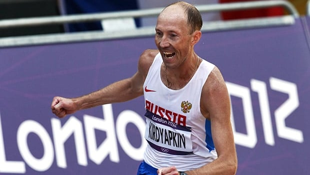 Sergey Kirdyapkinin won the men's 50-kilometre walk at the 2012 London Olympics.
