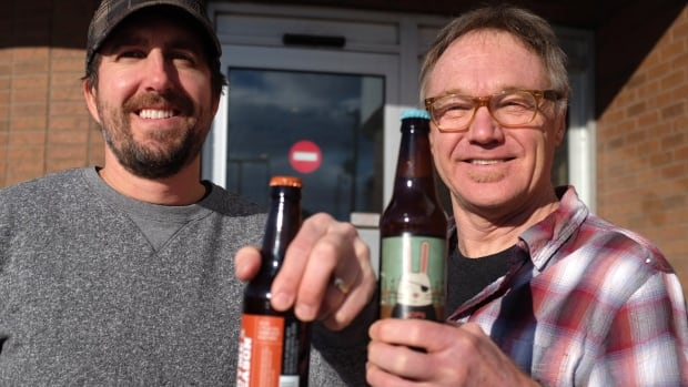 Collective Arts Brewing Co-Founders Matt Johnston, left, and Bob Russell are rebuilding the old Lakeport Brewery on Burlington Street East in Hamilton.