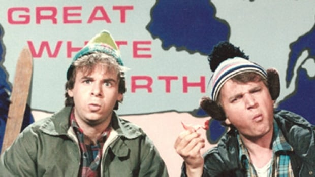 "Rick Moranis and Dave Thomas made Bob and Doug McKenzie famous on ""SCTV."""