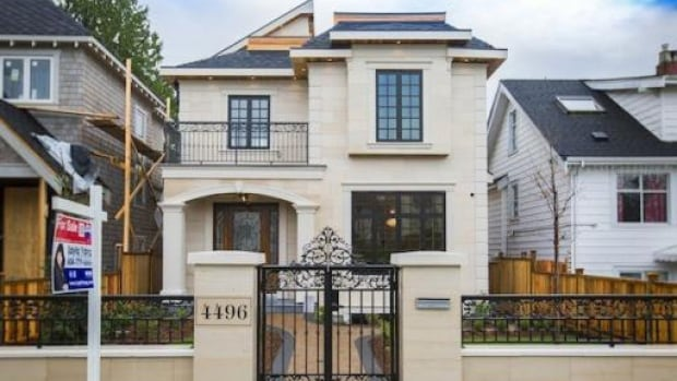 On Vancouver's West Side, homes on standard 33 foot lots are listed at more than $3 million.