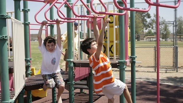 Watch kids playing with each other and you will see them running everywhere, chasing after each other, falling down, getting up and running some more. There is much more physical activity, because the pace is set by other kids, not by slower-moving parents.