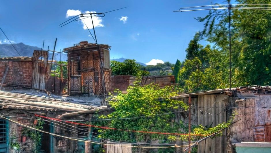 Cuban suburban landscape