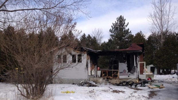 A Lanark woman was found dead after a fire at her home near Almonte on Thursday.