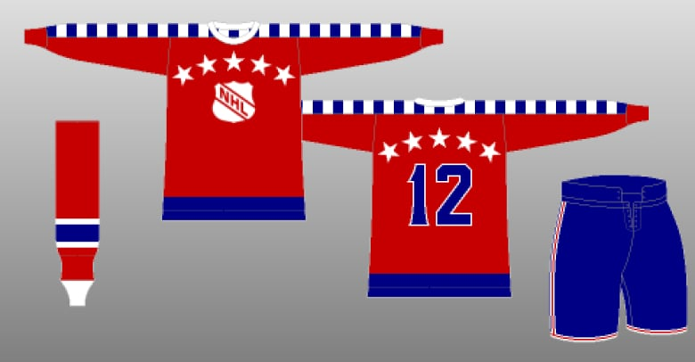 The original NHL All-Star game jersey featured a red 65525c5fd