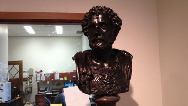 Researchers at the University of Saskatchewan have found that this bronze bust depicting the ancient general, Hannibal, once belonged to Napoleon Bonaparte.