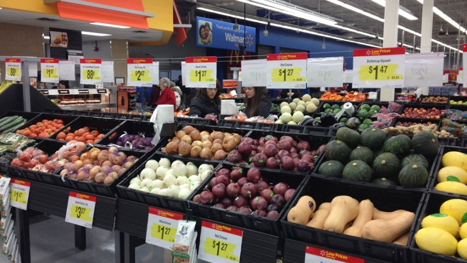 Walmart stores on P.E.I. started offering a full range of groceries last week.