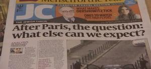 Jewish Chronicle reports on Paris attacks