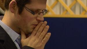 Man praying in synagogue
