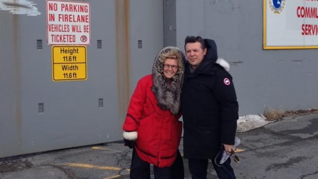 Theo Fleury and Kim Barthel visited inmates at Her Majesty's Penitentiary in St. John's Monday.
