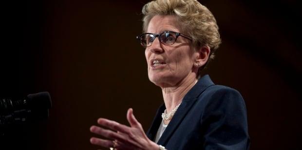 Premier Kathleen Wynne speaking in Ottawa