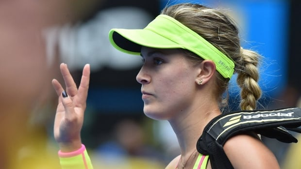 Eugenie Bouchard salutes the Melbourne crowd after her quarter-final loss at the Australian Open to Maria Sharapova. Can Bouchard rise to the upper ranks in women's tennis?