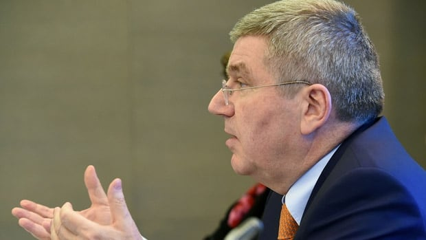 IOC president Thomas Bach said that Saudi Arabia would be ineligible to bid for the Olympics unless it complies with rules barring discrimination against women in sports.