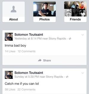 toutsaint screengrab facebook