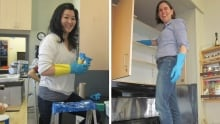 Kitchen cupboard cleaning at Tyndale