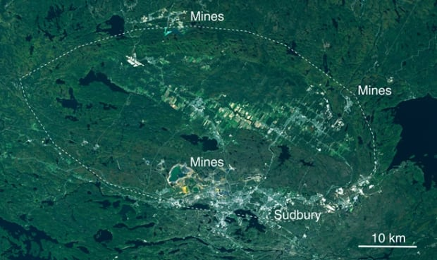 The Sudbury Basin from Landsat 8