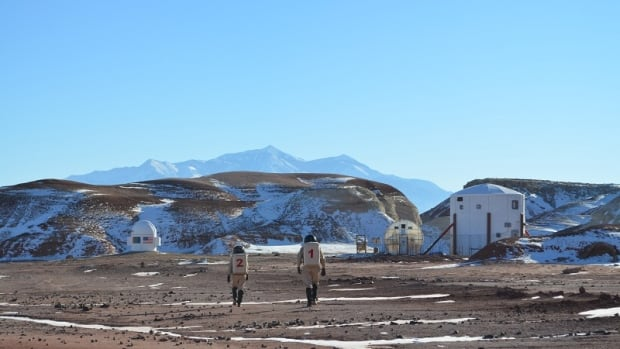 The Mars Society runs this Mars Desert Research Station in Utah, simulating the living conditions that would be faced by a manned mission to the red planet.